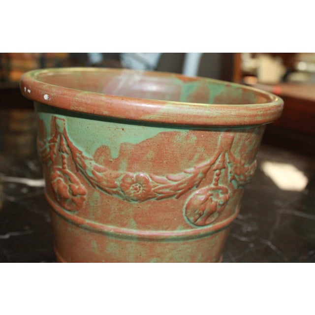 Art Nouveau Vintage Patina Planter For Sale - Image 3 of 5