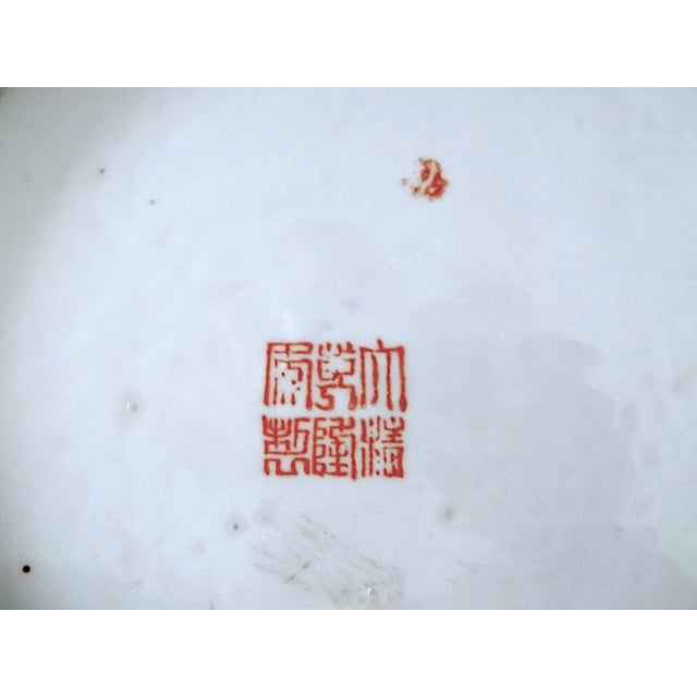 Antique 'Chinese Opera' Rose Mandarin Lidded Porcelain Ginger Jar With Gilt Finial For Sale - Image 10 of 11