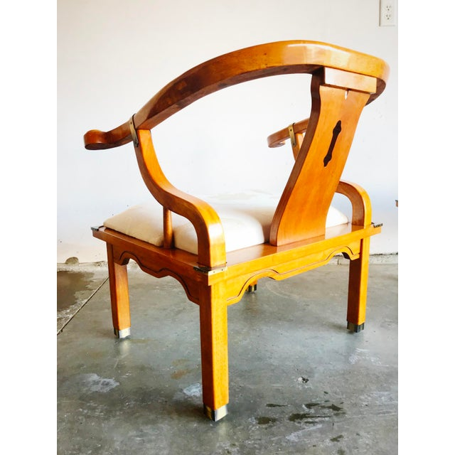 Vintage James Mont Horseshoe Chairs - a Pair For Sale In Chicago - Image 6 of 9