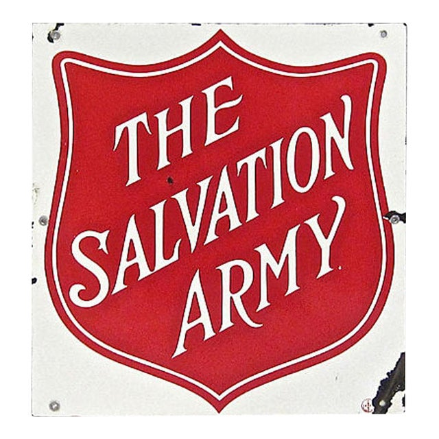 Porcelain Salvation Army Sign For Sale
