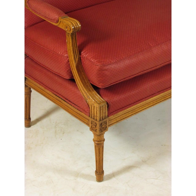 Red Louis XVI Style Marquis Chairs - a Pair For Sale - Image 8 of 10