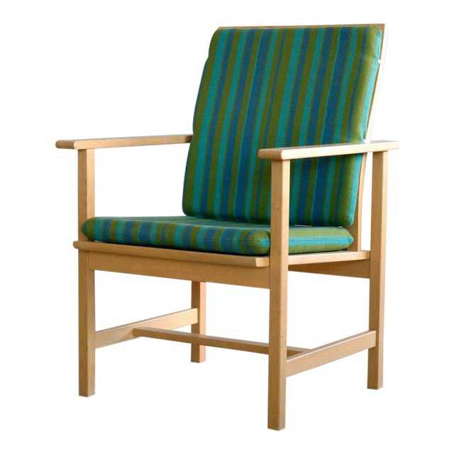 1960s Børge Mogensen Model 2257 Oak Lounge Chair for Fredericia Stolefabrik For Sale