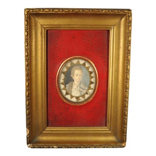 18th Century Portrait Miniature Memento of a Handsome Young Man C.1780 For Sale