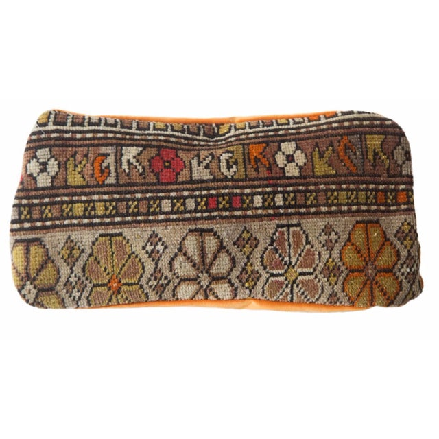 Floral Caucasian Rug Fragment Pillow For Sale