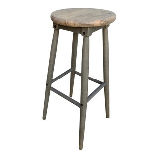 Late 20th Century Vintage Industrial Stool For Sale
