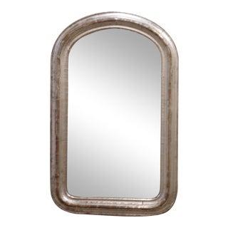 19th C. Curve Corner Silverleaf Mirror