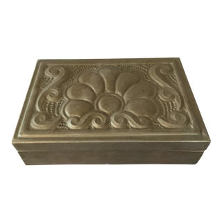 Wood & Tin Trinket Box From Mexico