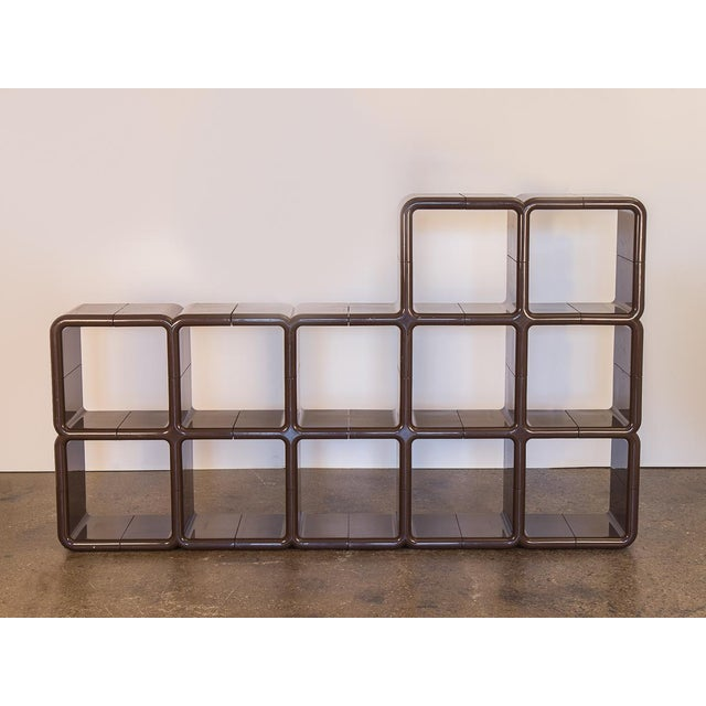 UMBO Modular Shelf Unit by Kay Leroy Ruggles for Directional. Molded ABS plastic with individual interlocking units....