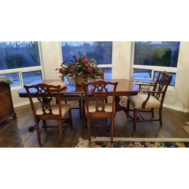 Antique Bernhardt Dining Set For Sale - Image 5 of 9