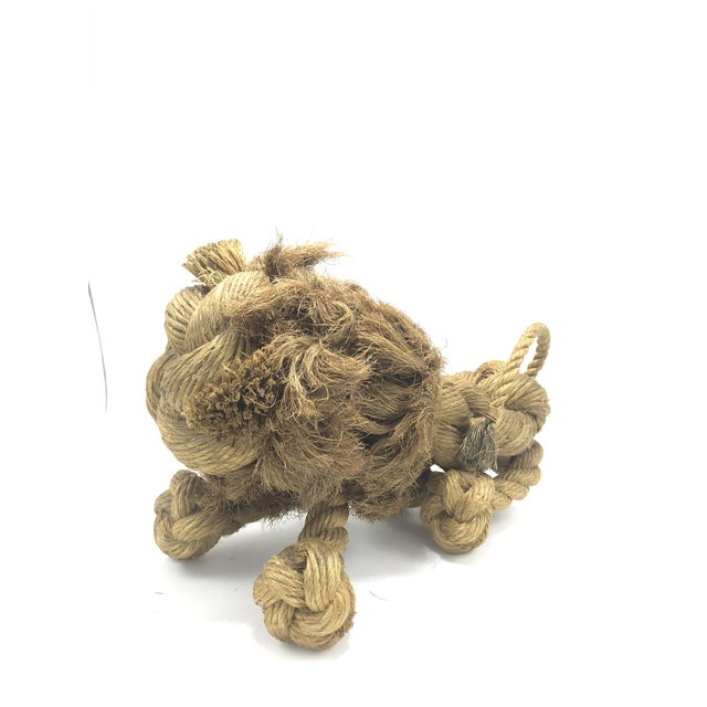 1960s Mid-Century Danish Braided Rope Lion For Sale - Image 11 of 13