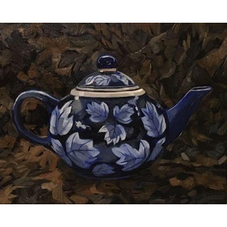 """Blair Oil Painting, """"Tea Pot"""", 14 X 11 In. Oil on Canvas For Sale"""