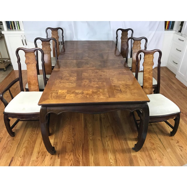 Chinese Chippendale Style Dining Table & Six Chairs- 7 Pieces - Image 3 of 11