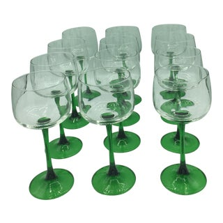 French White Wine Glasses From Alsace - Set of 12 For Sale