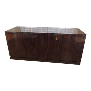 Contemporary Custom Tigerwood Cabinet For Sale