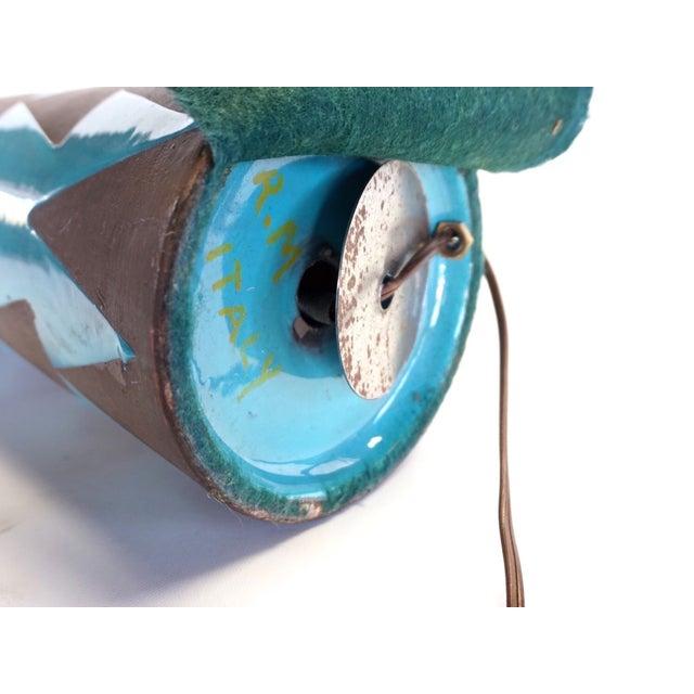 Raymor Turquoise Triangle Lamp - Image 3 of 6