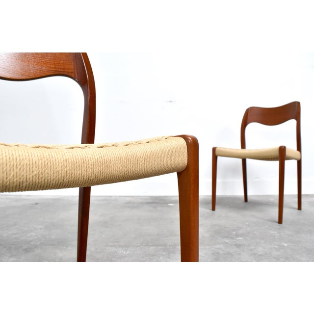 j.l. Møller Model 71/55 Teak & Danish Cord Dining Chairs - Set of 8 For Sale In Orlando - Image 6 of 13