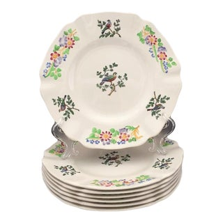 Copeland Late Spode Randall Birds Luncheon Plates - Set of 7 For Sale