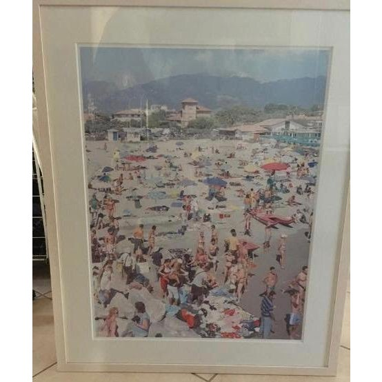 Photorealism Massimo Vitali (Italy, 1944) MadiMa Ragnodoro, Italy Lithograph C.1990 For Sale - Image 3 of 6