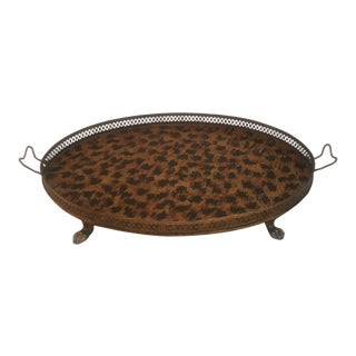 English Traditional Metal Gallery Tray For Sale