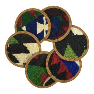 Kilim Coasters - Buğdaylı - Set of 6 For Sale