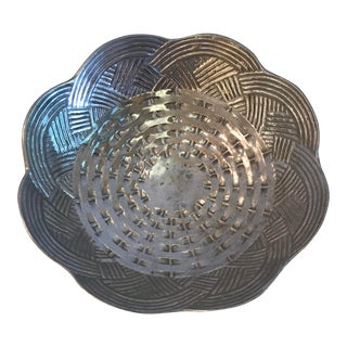 20th Century Southwestern Metal Embossed Bowl For Sale