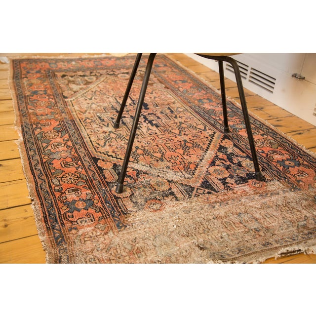 "Antique Distressed Malayer Rug - 3'4"" X 6'2"" - Image 5 of 7"