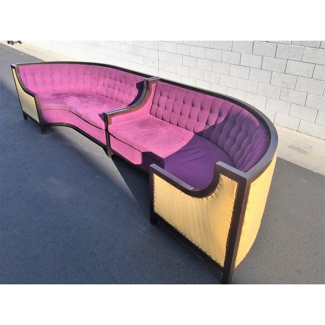 Large U-Shaped Purple Tufted VIP Sofa - Image 10 of 10