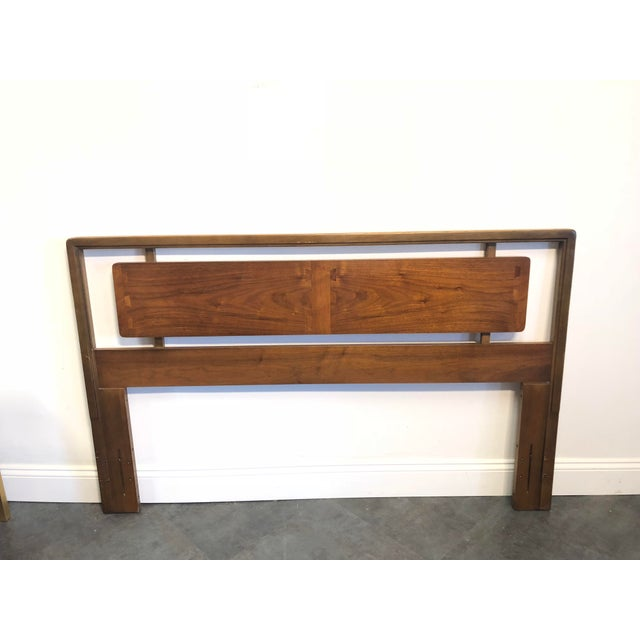 Brown Mid-Century Lane Acclaim Full / Queen Walnut Headboard For Sale - Image 8 of 9
