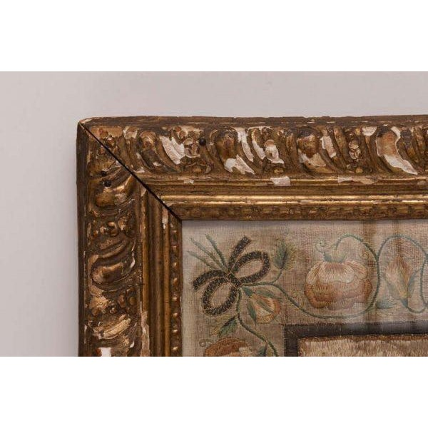 Italian Silk Thread Needlework in Gilt Frame For Sale - Image 4 of 11