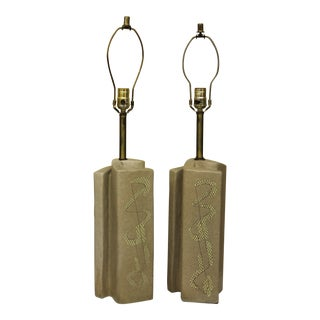 Marianna Von Allesch for Carola Ceramics Lamps - a Pair For Sale