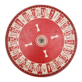 Vintage Hand Painted Game Wheel For Sale