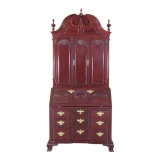 Kindel WInterthur Collection Mahogany Updyke Secretary Desk For Sale