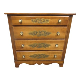 Hitchcock Maple Stenciled Chest For Sale
