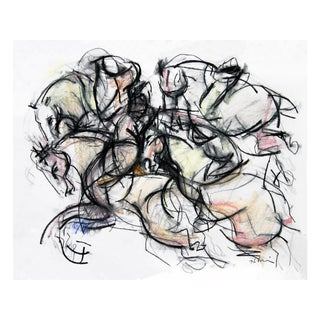 Polo Player #2 Abstract Drawing For Sale