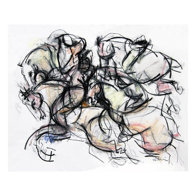 Polo Player #2 Abstract Drawing - Image 1 of 3