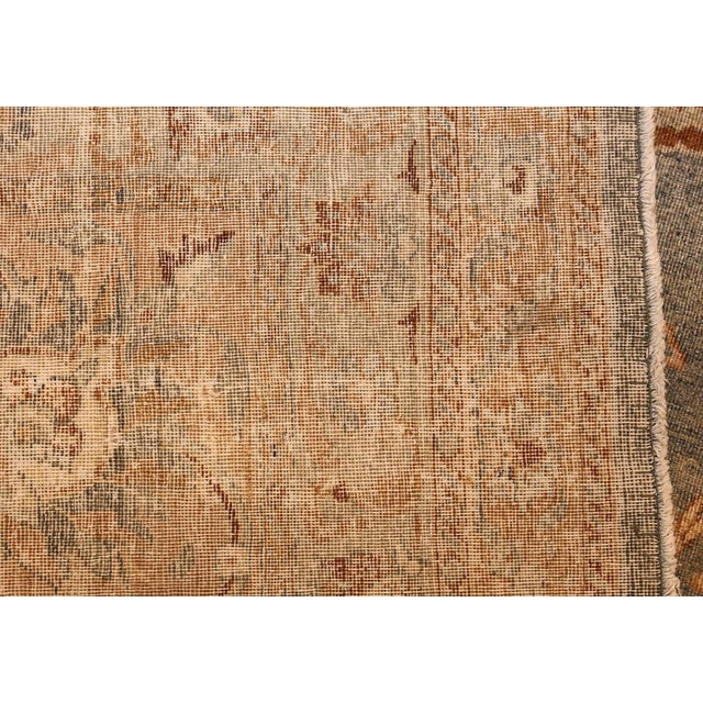 Large Antique Sky Blue Persian Kerman Carpet For Sale In New York - Image 6 of 11