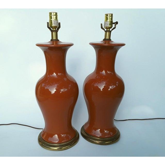 Ceramic Ginger Jar Shaped Lamps - A Pair - Image 2 of 5
