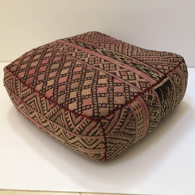 Vintage Moroccan Tribal Floor Pillow For Sale - Image 13 of 13