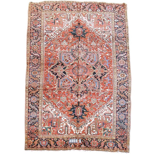 Islamic Heriz Persian Rug - 8′8″ × 12′ For Sale - Image 3 of 3