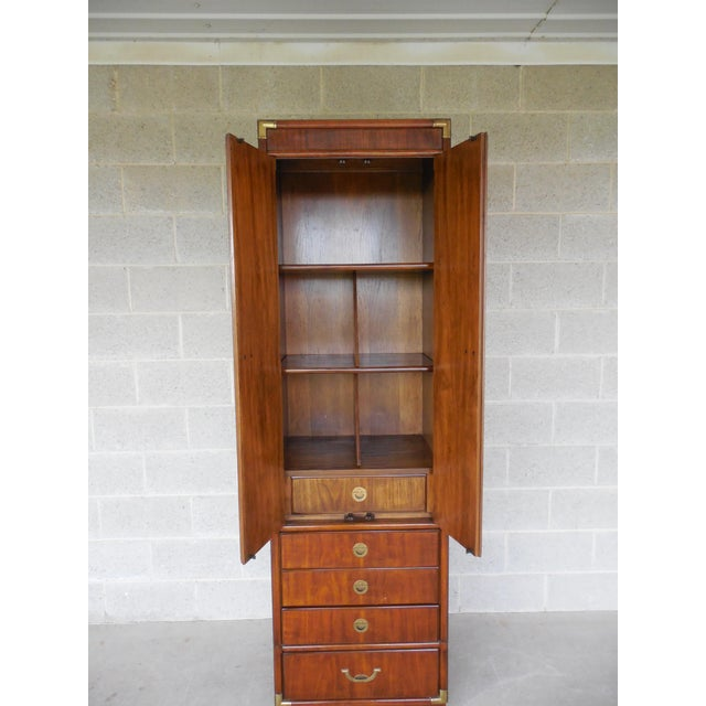 Drexel Heritage Accolade Campaign Style Armoire For Sale - Image 5 of 11