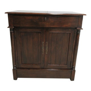 British Colonial Custom Bausman Company Distressed Entertainment Cabinet For Sale