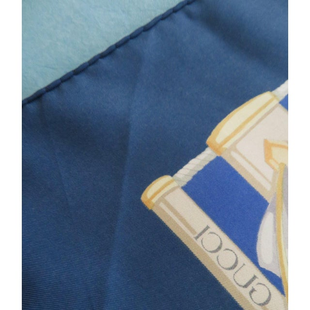 Vintage Gucci Nautical Silk Scarf For Sale - Image 9 of 13