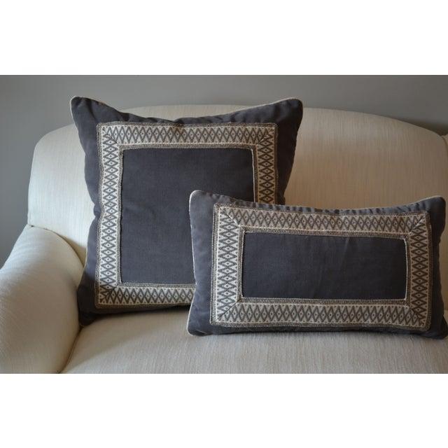 """Gray Velvet Custom Pillow - 22"""" x 12"""" - Image 3 of 6"""
