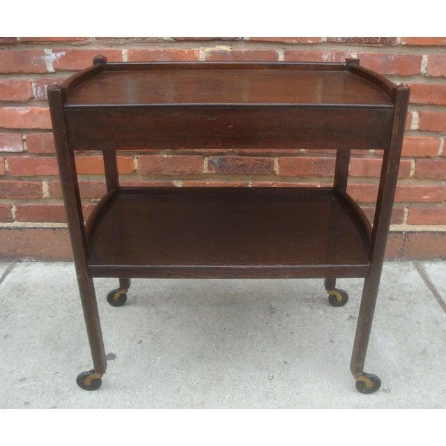 Art Deco Vintage Streamline Moderne Tea Cart or Bar Cart Art Deco For Sale - Image 3 of 12