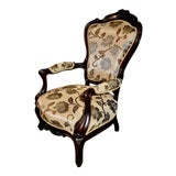Image of Late 18th Century Antique Victorian Carved Rosewood Chair For Sale
