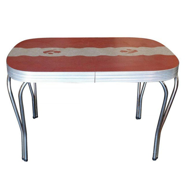 Lovely MidCentury Formica Kitchen Dining Table With Inlaid Top DECASO - Mid century modern formica table