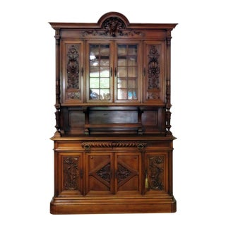Antique Renaissance Style China Cabinet