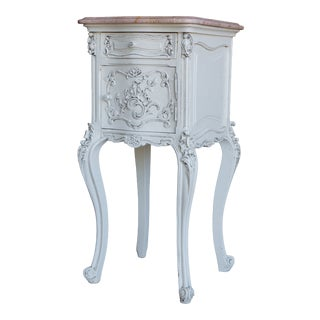 Early 20th Century French Rococo Marble Top Nightstand For Sale