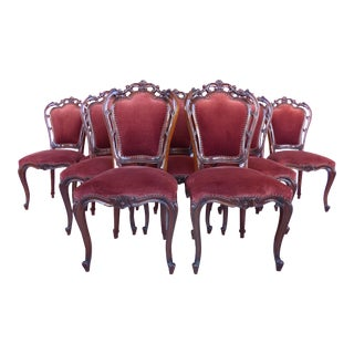Louis XV Style Mahogany Dining Chairs- Set of 10