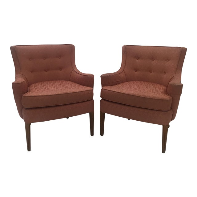 Italian Mid-Century Curved Arm Chairs - A Pair - Image 1 of 11
